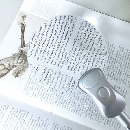 Rimless Clip 2X LED reading magnifier