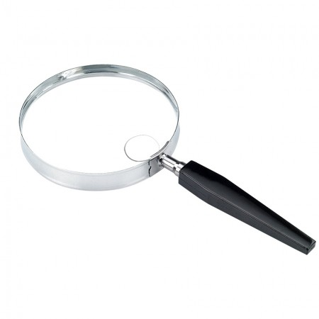 "3"" 2X Metal Frame Round Handheld Magnifying Glass 4X Bifocal - 2X Round Handheld magnifier with 4X Bifocal"