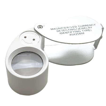 Mini 40X 25mm Jewelers Loupe Magnifier with LED and UV Light - 40X 25mm Jewelers Loupe Magnifier