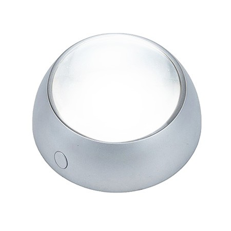 5X Dome Magnifying Glass with LED Light for Seniors Reading - Round Stand 5X LED Lighted Dome Magnifier