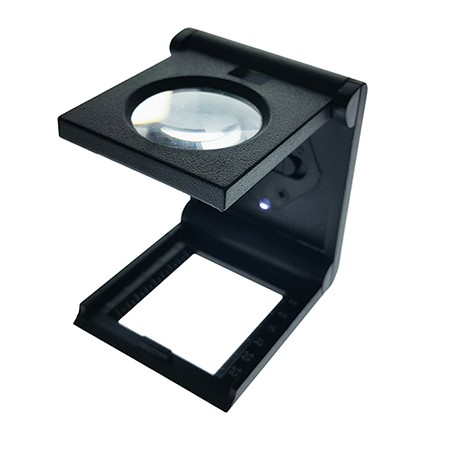 6X Illuminated Folding Magnifier Linen Tester Dia. 25mm