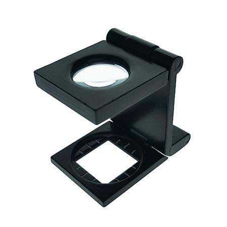 6X Metal Folding Magnifying Glass Linen Tester - 6X Lens Metal Foldable Linen Tester