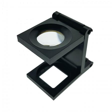 6X Plastic Folding Magnifying Glass Linen Tester - 6X Lens Plastic Foldable Linen Tester