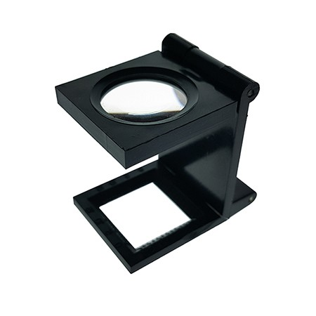 6X Plastic Folding Magnifier Linen Tester Dia. 20mm