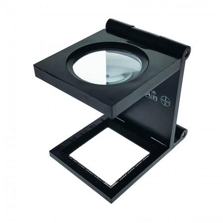 6X Plastic Folding Magnifier Linen Tester Dia. 25mm