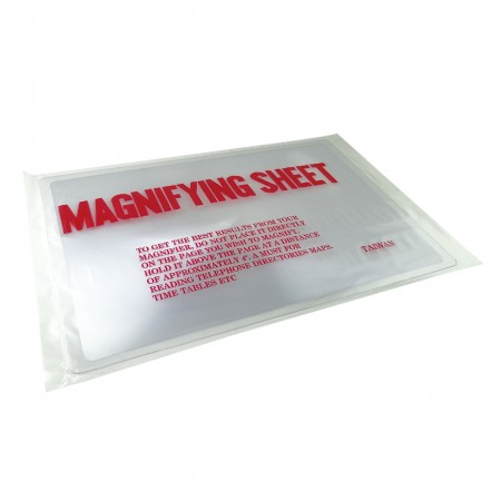 A4 Sized Page PVC Fresnel Lens Magnifying Sheet - A4 Sized Page PVC Plastic Magnifying Sheet