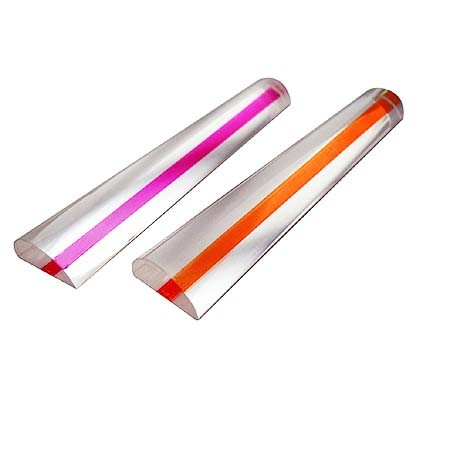 2X Bar Magnifier With Color Guiding Line for reading - 2X Bar Magnifier with Guiding Line for Reading Aids