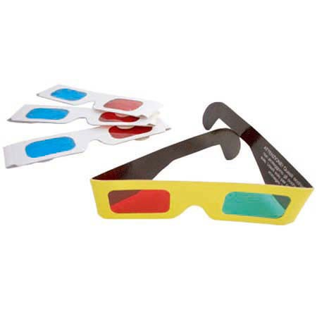 3D Glasses & Solar Eclipse Glasses - Paper Anaglyph 3D Red Cyan Glass / Red Blue Glass