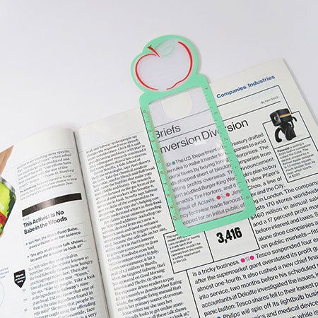 Bookmark Magnifier - Bookmark and magnifying glass all in one.