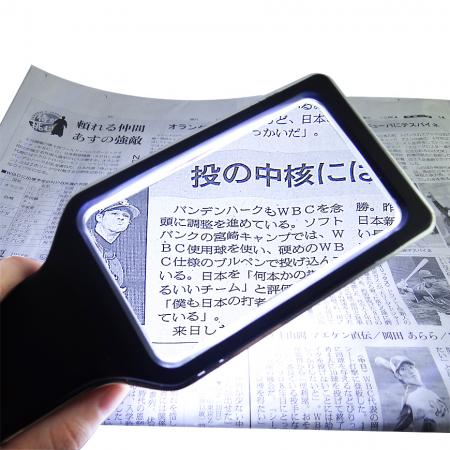 Handheld Magnifying Glass with Light - Handheld magnifier with LED Light for reading