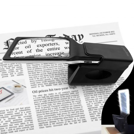 Accessories - stand rack to stabilize LED lighted magnifier
