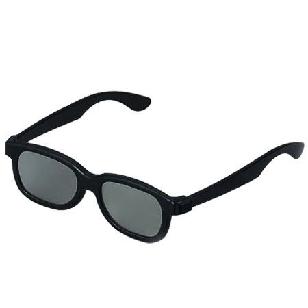 Foldable Plastic Passive Polarized 3D Glasses for Cinema, Movie Theater