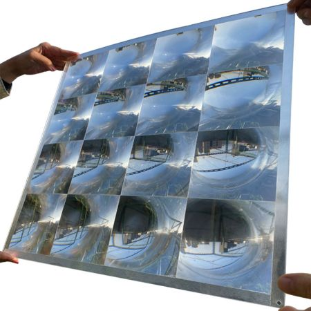 Fresnel Solar Concentrator Optical Acrylic Lens With 4 Array For Green Energy - Fresnel lens solar concentrator light collector 4 arrays