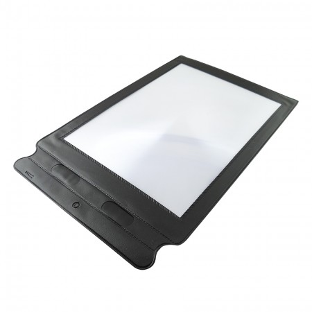 Full Page Magnifying Sheet with Vinyl Frame - 3X Full Page Magnifying Sheet with Vinyl Frame