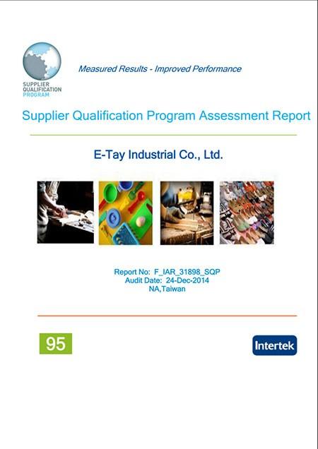 Supplier Qualification Program:95 percent-High Performance Meet Expectations.