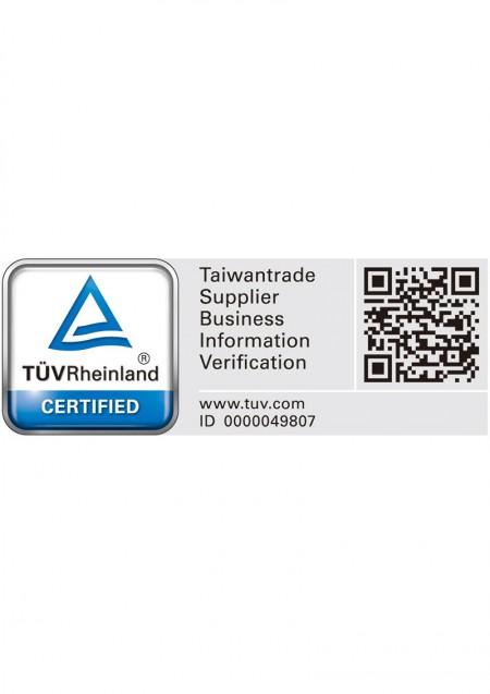TÜV Rheinland CERTIFIED Taiwantrade Supplier Business Information Verification