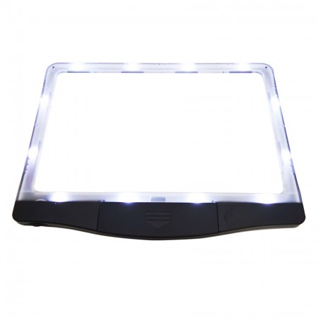 Page Magnifier with 12 Built-In LED Lights