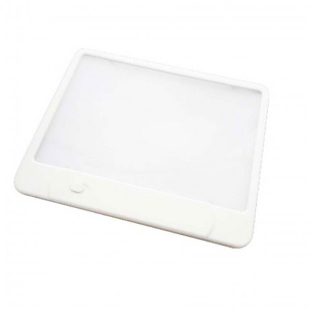 3X LED Page Reading Magnifier with 3 Built-In LED Lights - 3X LED Lighted Book reading magnifier