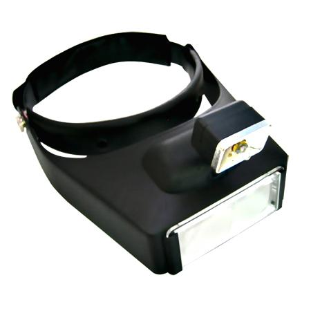 LED Illuminated Head Magnifier Visor with 4 Acrylic Lens Set - LED Lighted Magnifying Visor with 4 acrylic Lens