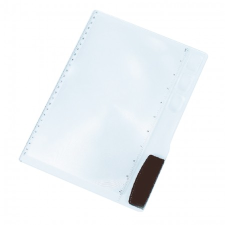 Rigid Page Magnifying Sheet with 3 Different Diopter Convex lens - 2X Magnifying Sheet with 3 Different Diopter