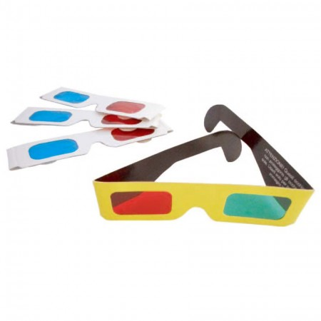 Custom Paper Anaglyph 3D Red Cyan Glass / Red Blue Glasses - Paper Anaglyph Red and Blue 3D Glasses