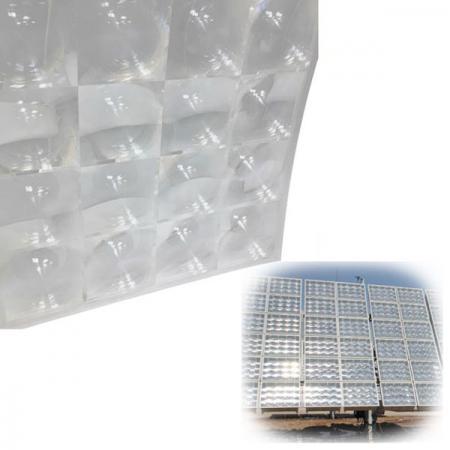 Fresnel Solar Concentrator Optical Acrylic Lens With 4 Array For Green Energy - Fresnel solar concentrator