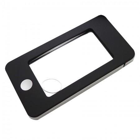 Lente d'ingrandimento tascabile a forma di iPhone con 4 luci LED