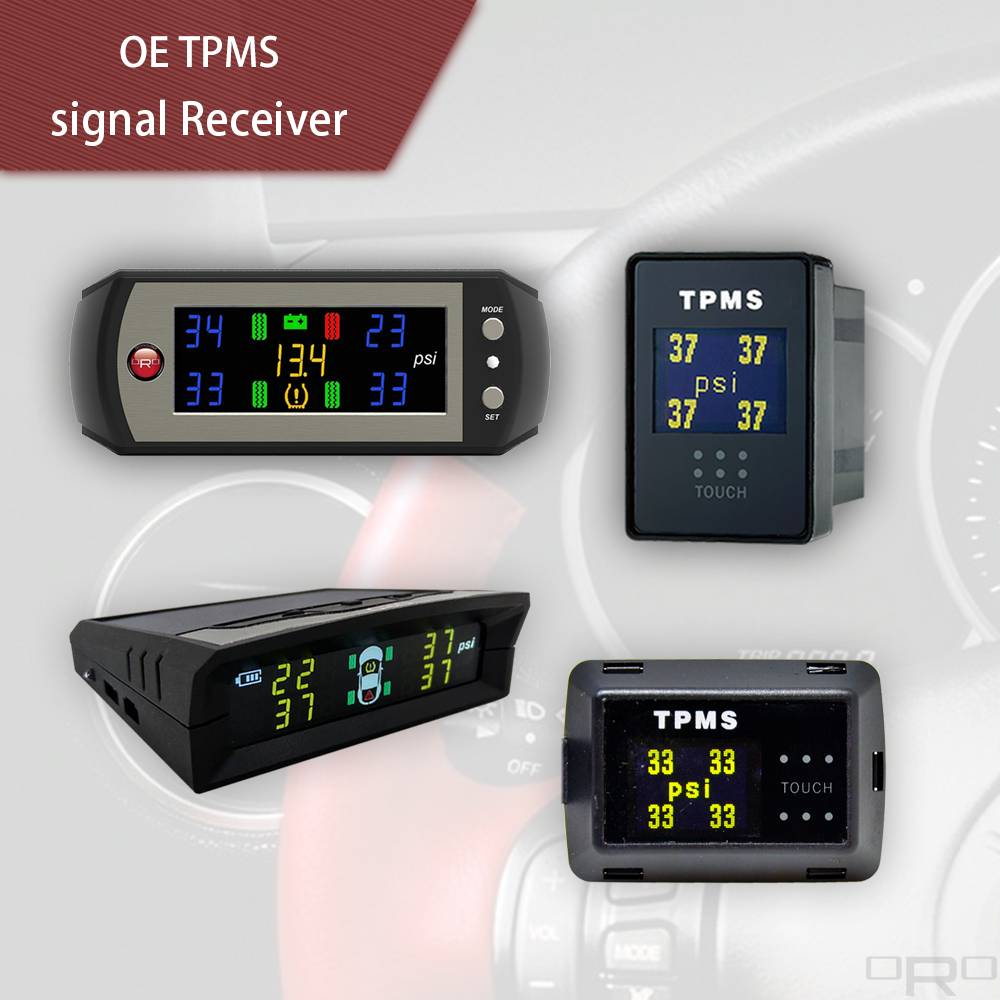ORO Tech는 4 개의 타이어 정보를 표시 할 수있는 OE TPMS 수신기 디스플레이를 개발했습니다.