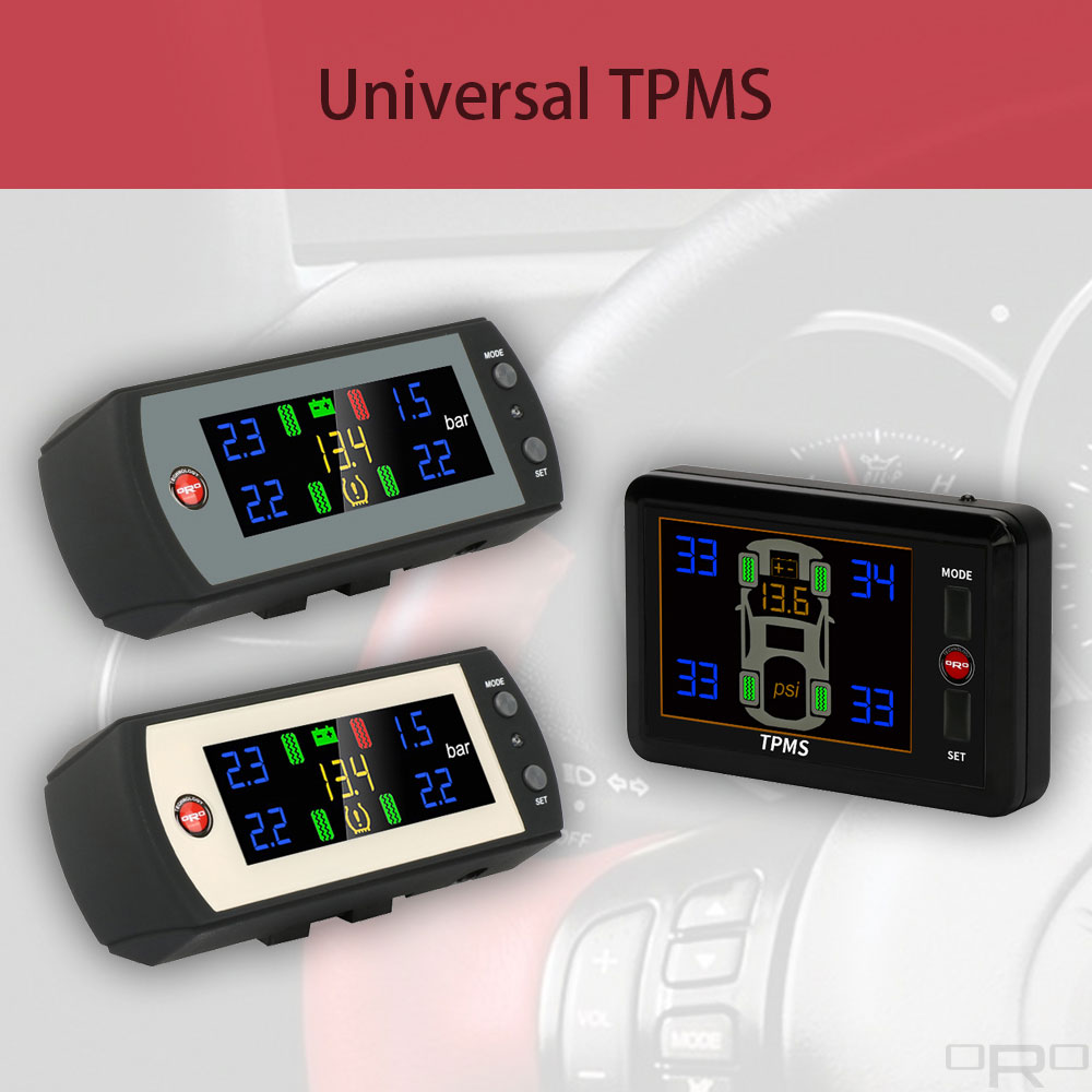 An universal TPMS is suitable to all kind of vehicles.