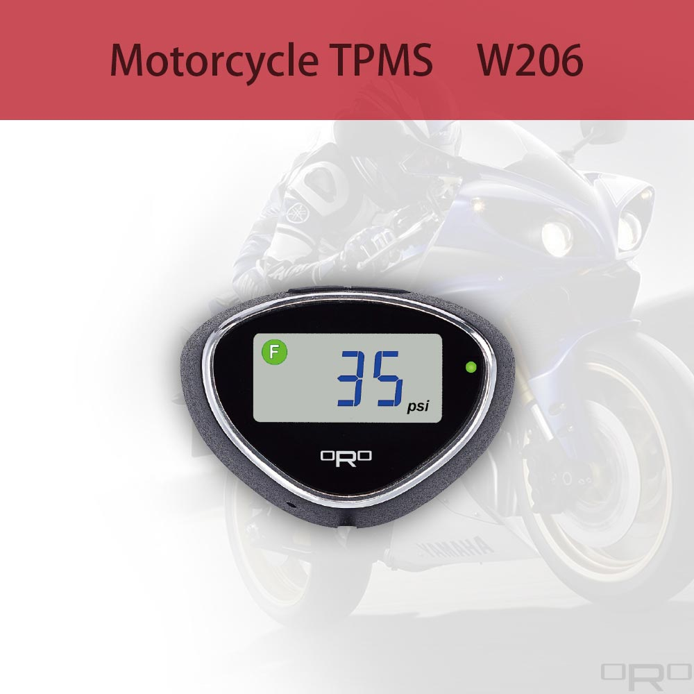 W206モーターサイクルタイヤ空気圧監視システムは、燃料消費量を削減し、より安全な走行状態を提供します。