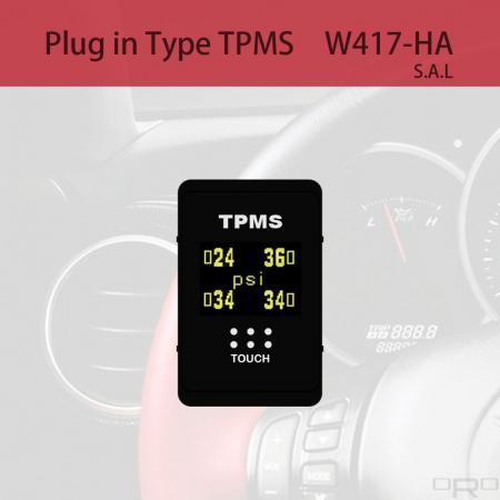 プラグインタイプタイヤ空気圧監視システム(TPMS) - W417-HAはスイッチタイプTPMSで、特定の4輪車に適しています。
