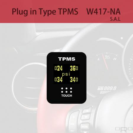 Plug in Type Tire Pressure Monitoring System (TPMS) - W417-NA is switch type TPMS and suitable for specific 4 wheel vehicles.