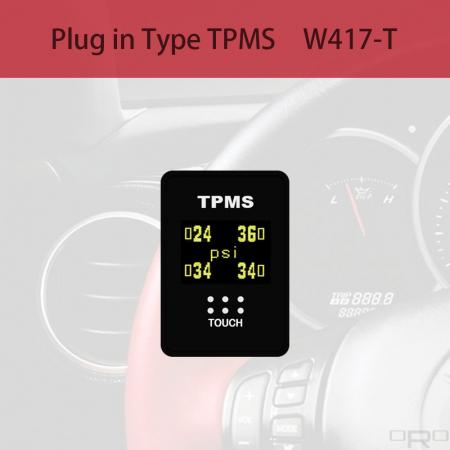 플러그인 타입 타이어 공기압 모니터링 시스템 (TPMS) - W417-T는 Toyota 및 Lexus 블랭크 스위치 유형 TPMS 용으로 개발되었습니다.