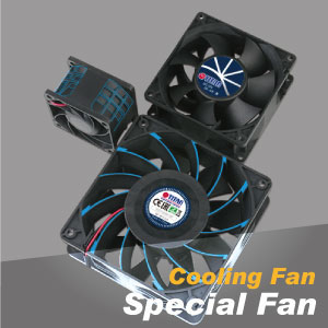 Special cooling fan for versatile cooling demands such as waterproof fan, power saving fan, extreme silent fan, high static airflow fan.