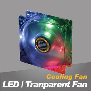 Ventilador de refrigeración LED y transparente