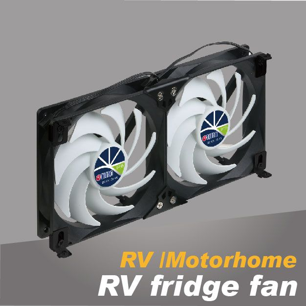 RV refrigerator cooling fan