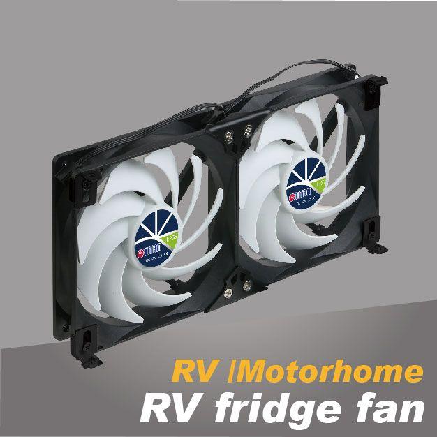 RV refrigerator cooling fan