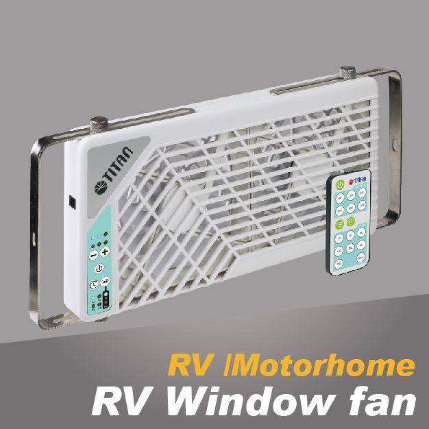 RV window cooling fan