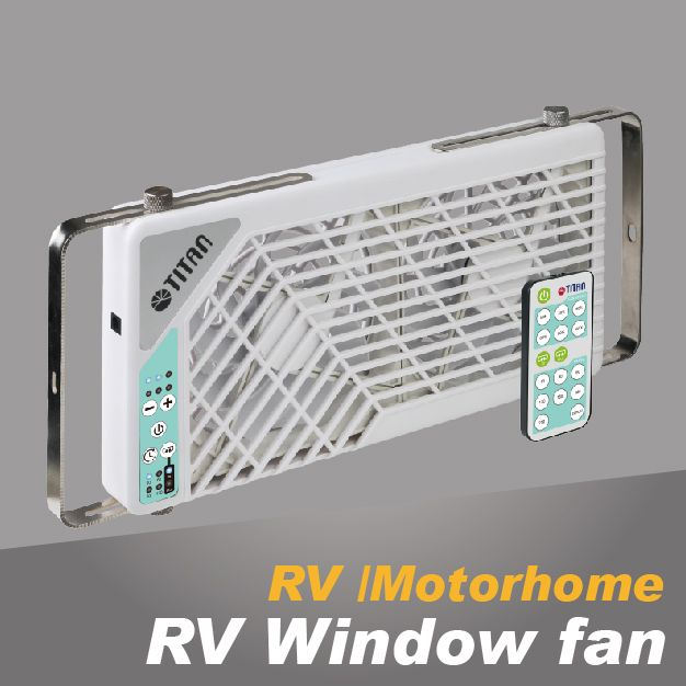 RV window cooling fan
