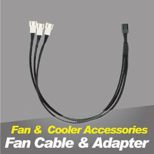 Cable del ventilador de refrigeración TITAN y adaptador de refrigeración.