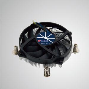 Ausgestattet mit radialen Aluminium-Kühlrippen und leisem Lüfter kann dieser CPU-Kühler den Luftstrom zentralisieren und die Wärmeableitung effektiv verbessern.