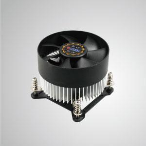 Equipado con aletas de enfriamiento de aluminio radial y ventilador silencioso, este enfriador de CPU puede centralizar el flujo de aire y mejorar efectivamente la disipación térmica.