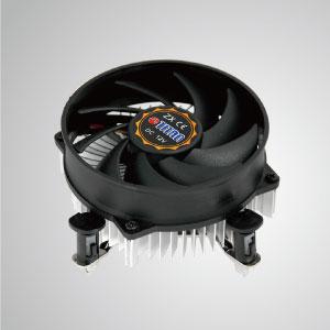 Оснащенный радиальные алюминиевые пластины и бесшумный вентилятор , этот процессорный кулер может централизовать поток воздуха и эффективно увеличивают рассеивание тепла