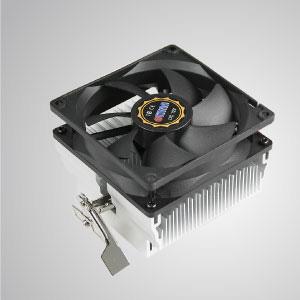 Ausgestattet mit radialen Aluminium-Kühlrippen und einem leisen 92-mm-Lüfter mit quadratischem Rahmen kann dieser CPU-Kühler die Wärmeübertragung beschleunigen.