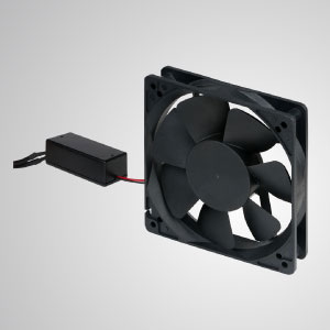 This EC cooling fan features energy saving, larger fan speed control, and combined AC with DC advantages.
