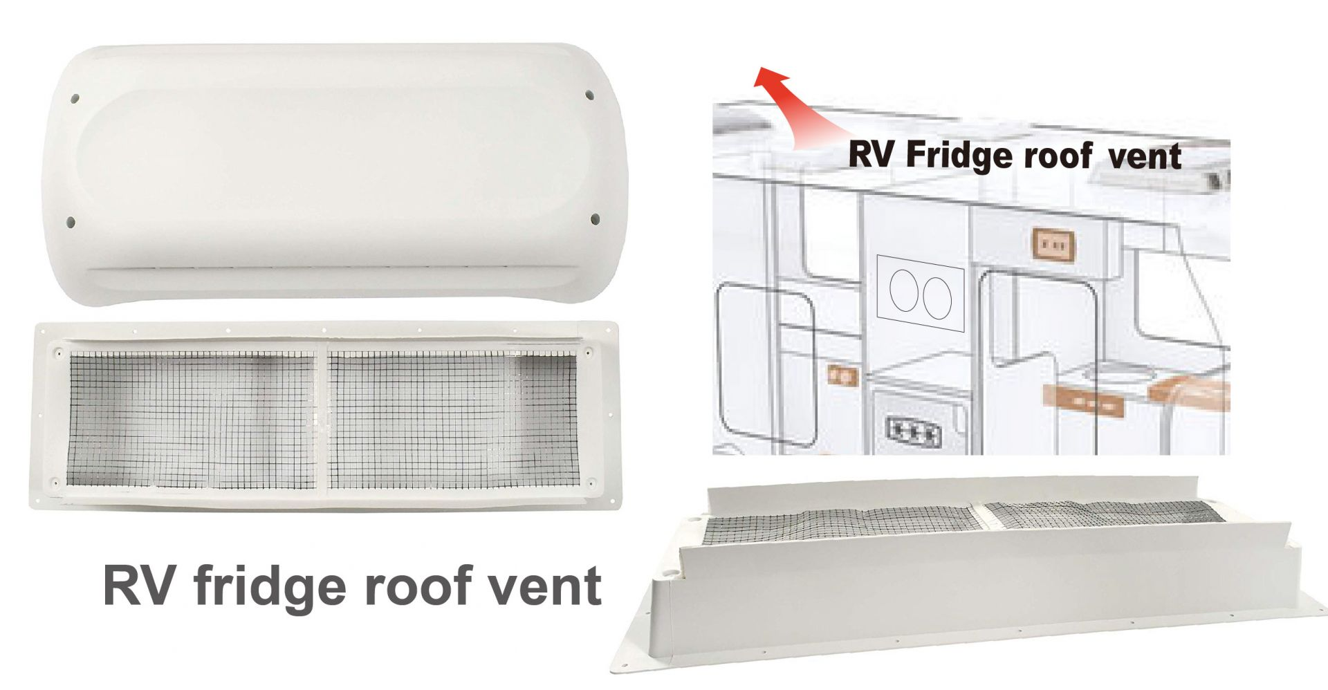 The work of Rooftop RV fridge vent
