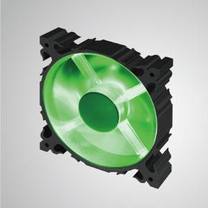 7枚羽根の120mmLEDアルミフレーム冷却ファンを採用し、より強力な放熱と頑丈な構造を備えています。