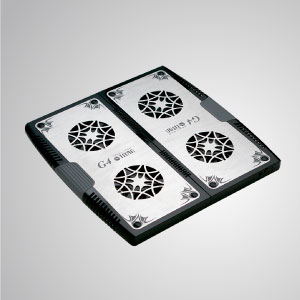 Equipped with dual 70mm fan and large-sized aluminum surface, it can effectively accelerate airflow to transfer heat.