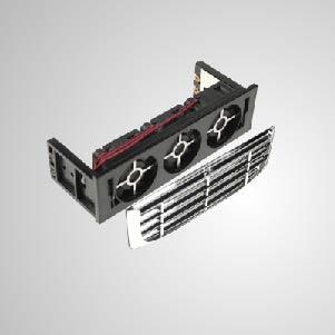 Eingebaute leise 3x 40mm Lüfter können die Temperatur der Festplatte effektiv senken. EMI-Schutz und Filter enthalten die Systemstabilität und -zuverlässigkeit und verbessern die Betriebseffizienz