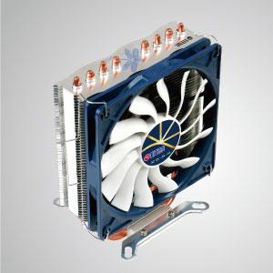 Presentado con 4 tubos de calor de contacto directo en forma de U optimizados y un ventilador de enfriamiento de bajo ruido de 120 mm.  Es capaz de acelerar el disipador térmico mediante la circulación del flujo de aire.